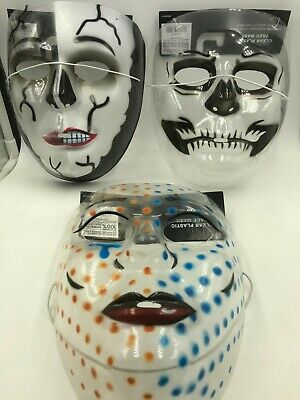 Clear Plastic Halloween Masks (Halloween Clear Plastic Spooky Face Mask)