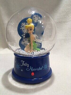 Disney Tinker Bell Feliz Navidad Musical Christmas Air-blown Snow Globe