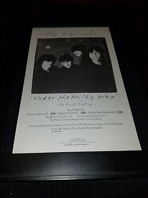 The Church Under The Milky Way Rare Original Radio Promo Poster Ad Framed!