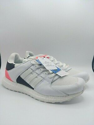 Adidas EQT Support Ultra White Red Turbo Mens Sneakers Trainers UK 8.5 EURO 42.6