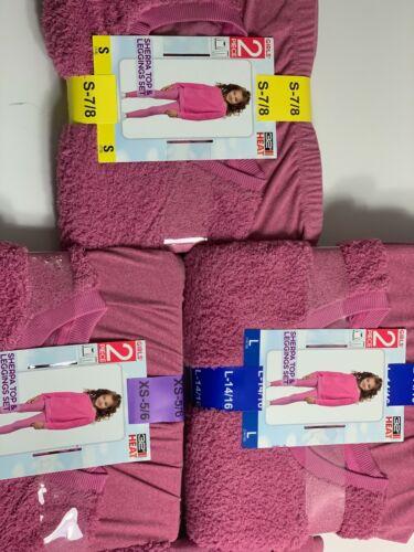 NWT Girls 32 Degrees Sherpa Top & Legging Set (Variety Size/ Pink)