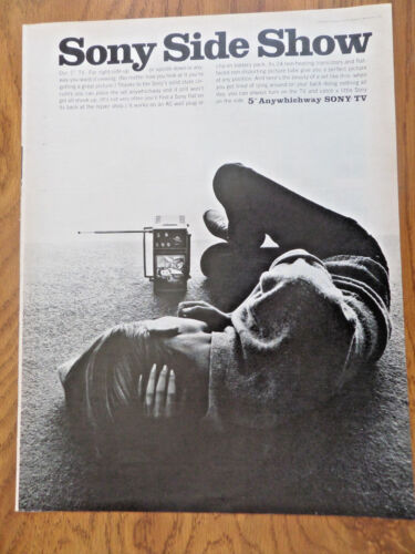 1965 The Sony TV Television Ad  sony Side Show 5 Anywhichway sony-TV