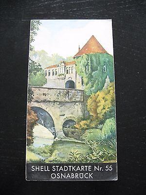 alte SHELL Stadtkarte Nr.55 Osnabrück Niedersachsen um 1935