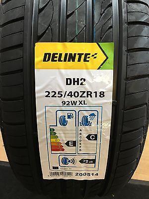DELINTE DH2 XL 225 40 R18 92W XL brand new Pair 2 x Tyres 22540R18