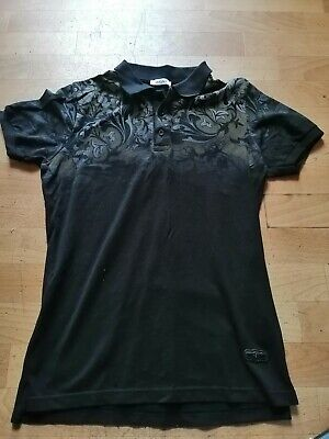 Versace Smart Black Polo Top Mens Small