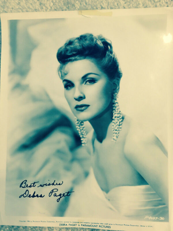 Autograph Best Wishes Debra Paget 1956 Vintage Black and White Photograph