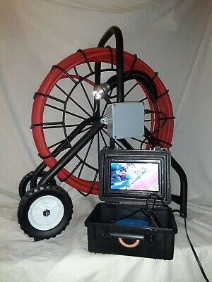 Sewer Snake Pipe Cleaner Video Inspection Camera System 200feet