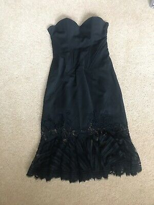 Versace Versus Back Lace Cocktail Dress Size 6 8 Stunning