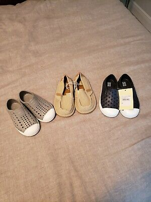 Native Boys Shoes 8- LOT to include Harper Canyon and children's place shoes