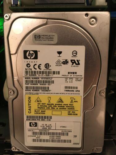 HP 73GB 10K ULTRA320 80P SCSI HPC5 SEAGATE ST373307LC 0950-4133 A7285A A7285