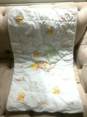 SALEvintage quilted Winnie Pooh Disney zip up baby cot pram blanket sleeping bag for sale  Shipping to South Africa