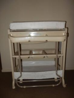 Baby Change Table with inbuilt Bath
