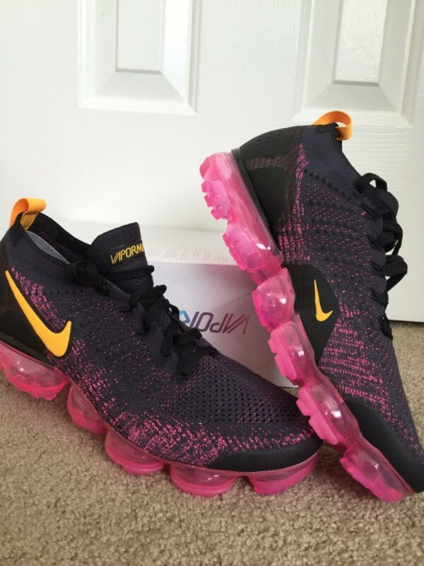 a5f6a4786a92 Nike Air VaporMax Flyknit 2 Gridiron Laser Orange Pink Black 942842 008  Hoodie