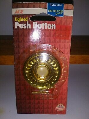 NEW Wired Home Doorbell Door-Bell Lighted Push-Button ace old stock 1995 36474
