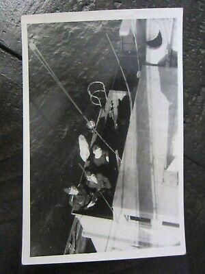 Original WWII German Kriegsmarine Sailor Soldiers on Ship Deck Photo
