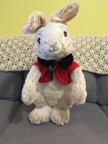 Peter Rabbit with red jacket Walmart Porch Greeter easter Christmas plush 21""