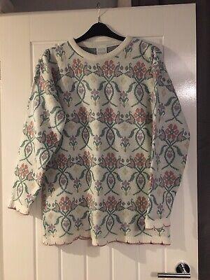 Vintage Oversized Floral Jumper Knit
