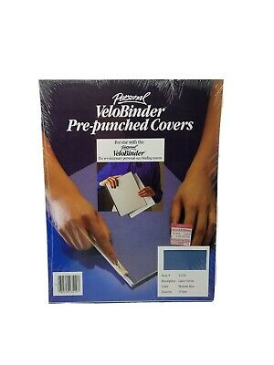Personal Velobinder Presentation Covers 25 Sets Pre-punched Medium Blue 2-0