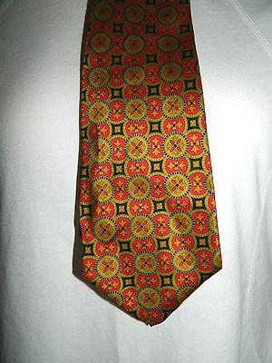 1960s – 70s Men's Ties | Skinny Ties, Slim Ties VTG 1960's Custom Made Red Gold Pattern Men's Silk Short 56