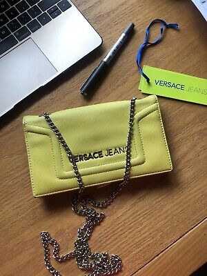 Versace Jeans - Lime Yellow Wallet Purse With Shoulder Chain