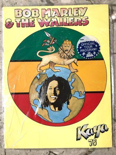 BOB MARLEY & THE WAILERS 1978 KAYA Tour Program Book Old NEW SEALED!!