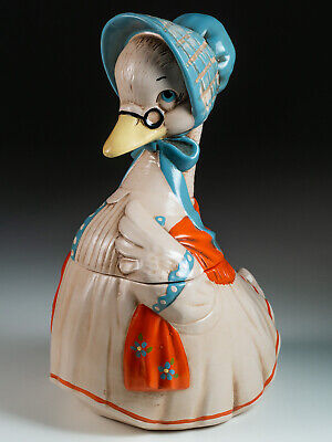 Vintage Twin Winton Mother Goose ceramic cookie jar - Made in California - 1962