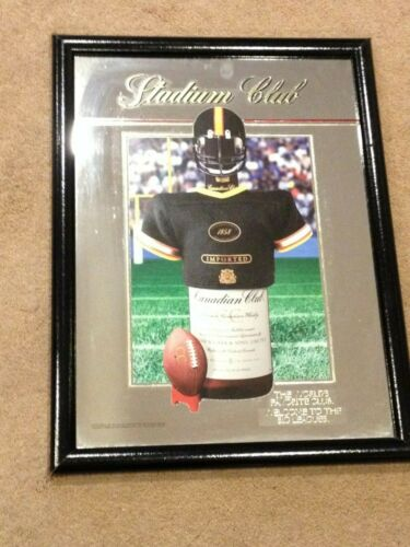 Vintage Canadian Club Stadium Club Blended Canadian Whisky Football Bar Mirror