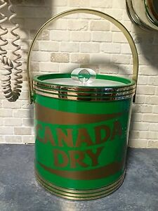 Vintage Canada Dry soda advertising  ice bucket