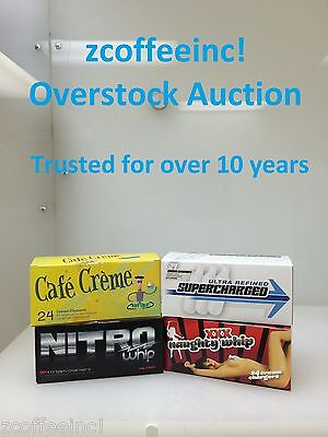 48 Whip Cream Chargers Nitrous Oxide N2O Whipped OverS EUROPEAN