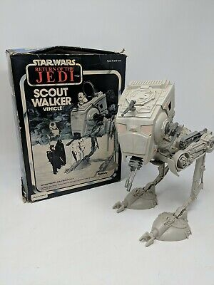 VINTAGE STAR WARS SCOUT WALKER VEHICLE, BOXED, MADE IN FRANCE, ROTJ, PALITOY
