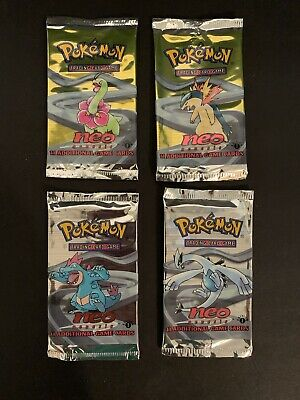 Pokemon 1st Edition Neo Genesis Empty Booster Pack Wrappers No Cards