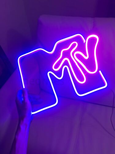 MTV Music TV Neon Sign for Wall and Bedroom for home stylish light lamp