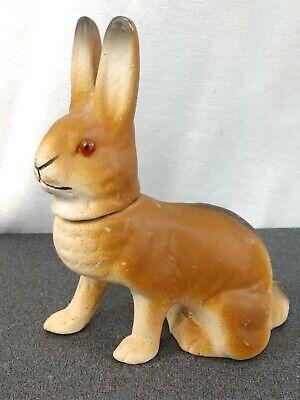 Antique German Paper Mache Rabbit Easter Composition Candy Container Glass (Rabbit Glasses)