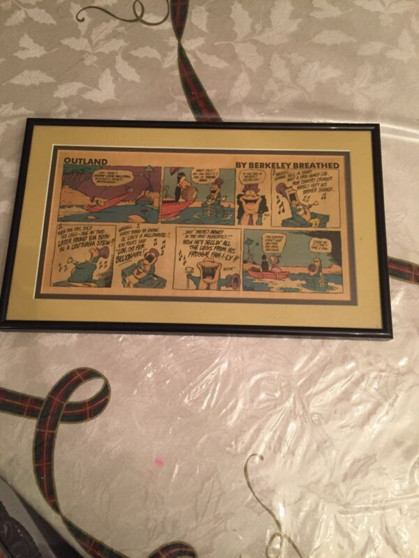 Cartoon Outland by Berkeley Breathed - full color Sunday comic page Framedmatted