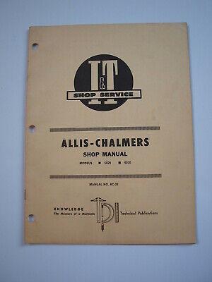 Allis-chalmers 5020 5030 Tractor Shop Service Repair Manual Simplicity 95239528