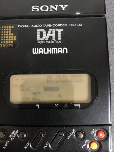 SONY DAT Walkman TCD-D3 Not tested