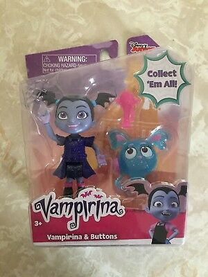 Disney Junior VAMPIRINA & BUTTONS 3 Pack Figure Doll Set NEW