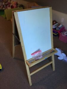 chock and white board.