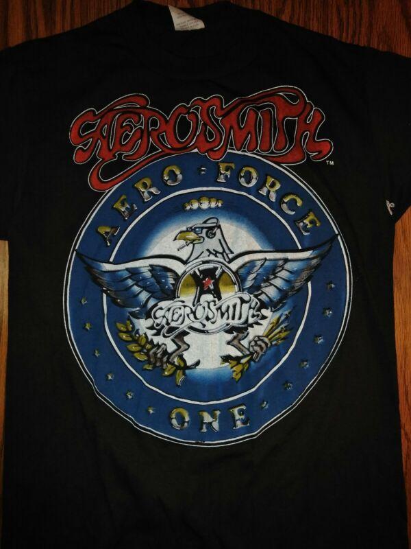 AEROSMITH SHIRT 1987 Aero Force One tour concert 2 sided M original VINTAGE