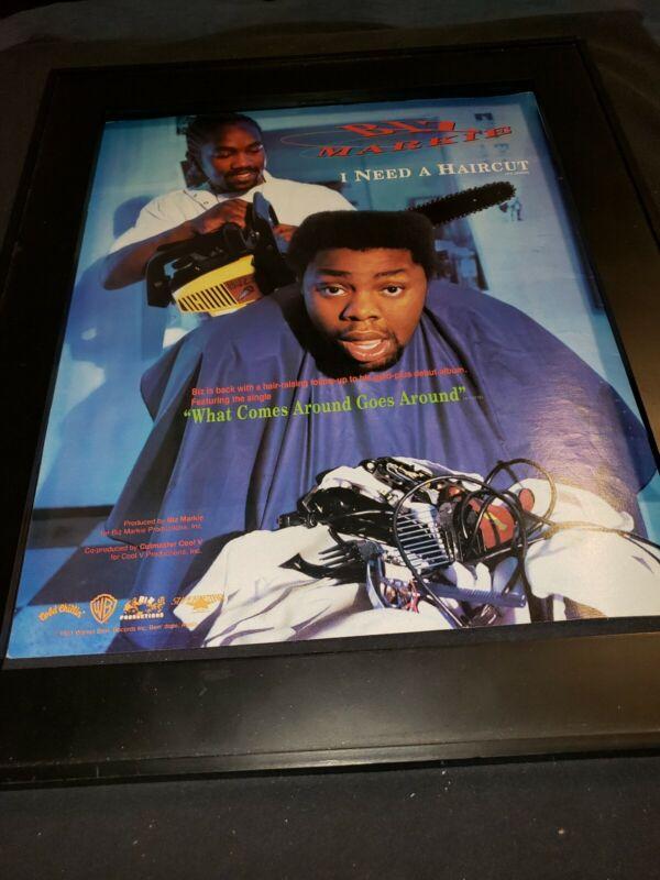 Biz Markie What Comes Around Goes Around Rare Original Promo Poster Ad Framed!