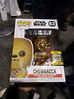 Star Wars Celebration Exclusive Funko Chewbacca Gold Pop
