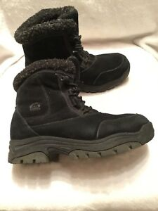 Awesome, warm, Black suede sorel boots ladies size 7.5