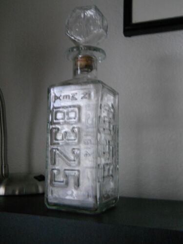 1974 Walker's Bourbon Liquor License Plate Decantor States KS, MI, OR, NM.....