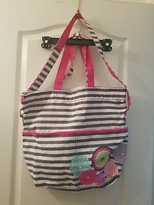 Thirty One Large Black White Striped 18