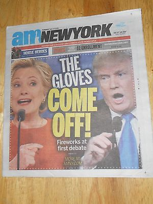 1st President Candidate FIREWORKS FIRST Debate Hillary Clinton Donald Trump 2016
