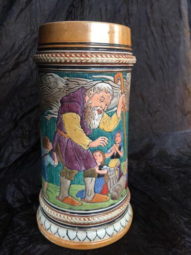 """Antique Matthais Girmscheid Stein 6 1/8"""" tall """"Der Getreue Eckart"""""""
