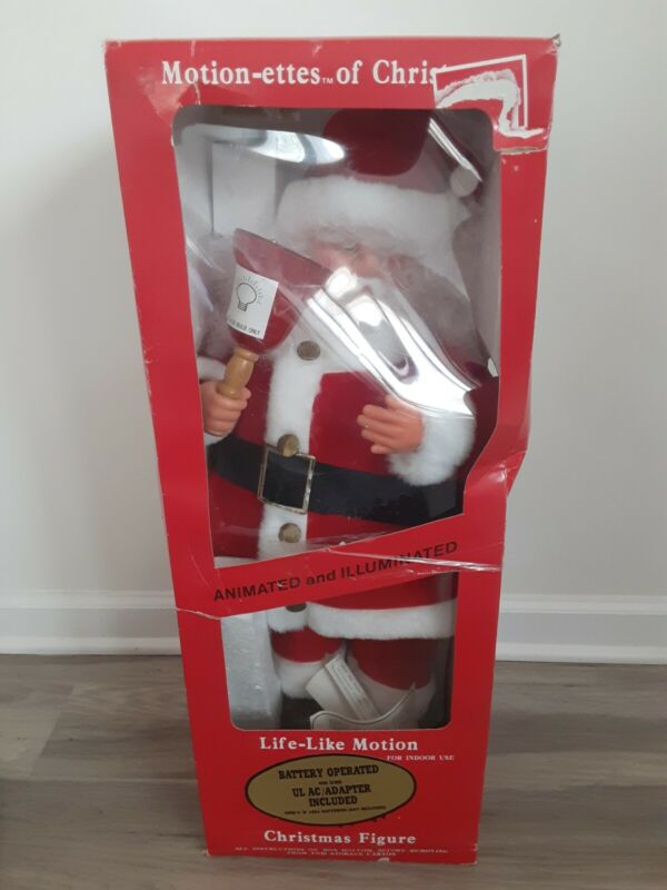 vintage telco motionettes  santa claus animated figure in box