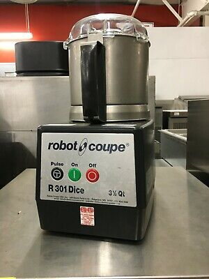 Robot Coupe R301 Dice Food Processor 3.5 Qt Stainless Bowl With S Blade