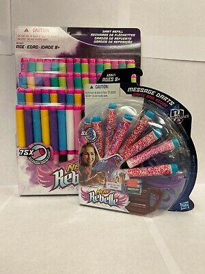 NERF Rebelle 75 Refill & Message Dart Refill Kit