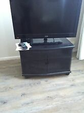 Black TV unit with glass doors Beaumont Hills The Hills District Preview